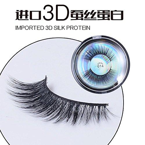 1 Paar 3D Seide Protein Senior Fiber Falsche Wimpern Neue Mode Frauen Kosmetik Handgemachte Wimpern Weiche Natürliche, Realistische Dreidimensionale Make-Up Wimpernverlängerung , 014 (Wimpern Realistische)