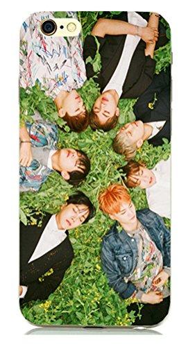 KPOP BTS Téléphone portable Coque pour iPhone 4/4S/5/5S/6/6plus bangtan garçons jimin Jin j-hope in Bloom Étui Téléphone portable (type 7pour iPhone 6)