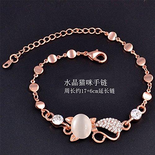HOOM-Ladies fashion gioielli perla Crystal Opal bracciale,J
