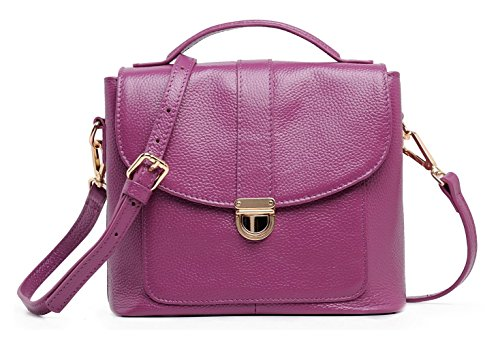 Leder Cool Damen Handtaschen, Hobo-Bags, Schultertaschen, Beutel, Beuteltaschen, Trend-Bags, Velours, Veloursleder, Wildleder, Tasche Lila Keshi