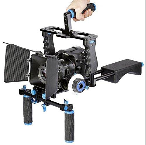 Schulter Video Kamera Stabilisator unterstützt Cage/Matte Box/FOLLOW FOCUS für Canon Nikon Sony Kamera Camcorder ()