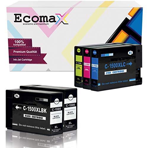 5 Ecomax Tintenpatronen kompatibel zu Canon PGI-1500 XL Maxify MB2000 Series MB2300 Series MB2050 MB2350 MB2750 MB2755 Multipack