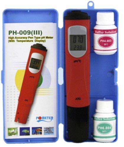 PH Messgerät, digitaler pH Tester mit Temperaturmessfunktion im handlichen Pen-Format von Aqualight