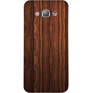 Casotec Wooden Texture Design Hard Back Case Cover For Samsung Galaxy A8