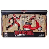 Hasbro Marvel Legends Series- Deadpool con Veicolo ed Accessori, Multicolore, E4702CB0