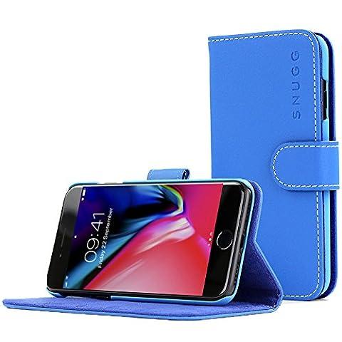 Coque iPhone 7 and 8, Snugg Apple iPhone 7 and 8 Etui à Rabat [Emplacements Pour Cartes] Cuir Portefeuille Housse Désign Exécutif [Garantie à Vie] – Bleu, Legacy Range
