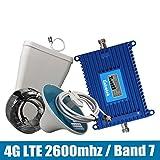 NO Gewinn 70dB 4G LTE 2600 Signal Booster 4G LTE 2600MHz (Band 7) Mobile Signal Repeater vollen Satz mit LPDA/Deckenantenne + 15M Kabel