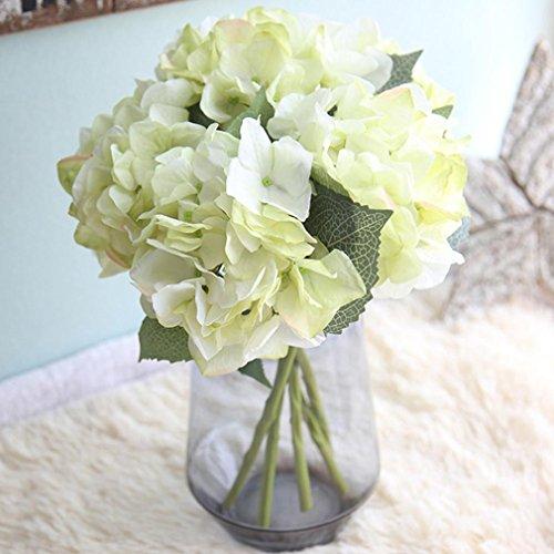 Dekorationen Hortensie Hochzeit (Xshuai Künstliche gefälschte Blumen Seide Hortensie, Xshuai Floral bunten Blumen Hochzeit Braut Hortensie Party Girlanden Bouquet Decor Home Kunst Garten Blume Dekoration (G))
