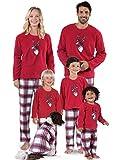 Abollria Set Pigiama Famiglia Natale Colore Rosso in Cotone, Stampa di Cervo Manica Lunga per Mamma papà Bambini