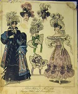 Chapeau de Robes de Soirée de Tête de Chariot de la Mode de 1829 Femmes