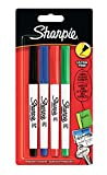 Sharpie-Permanent Marker mit ultrafeiner Spitze, 4er Packung, gemischte standardfarben