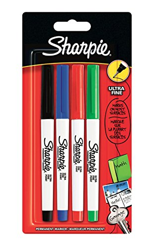 sharpie-ultra-fine-permanent-marker-assorted-standard-colours-pack-of-4