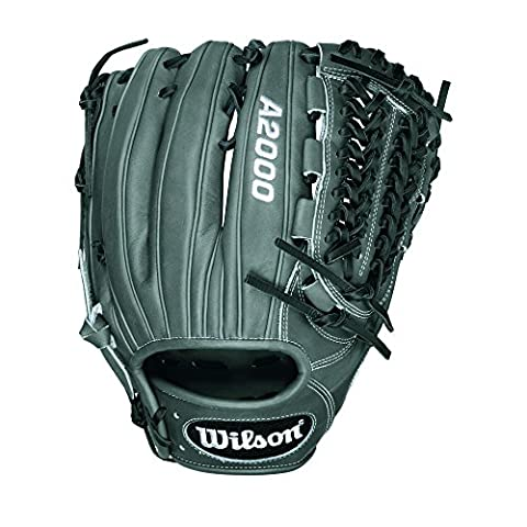 Wilson A2000 D33 Pitcher Baseball Glove, Grey/Black/White, Right Hand Thrower
