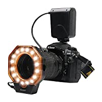 Macro LED Ring, D&F 32 Photo Video Lighting Bundle Close-up Photography for Canon, Nikon,Olympus, Pentax SLR Cameras (Will Fit 40.5, 52, 55, 58, 62, 67, 72, 77mm Lenses)