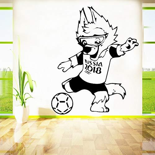 zqyjhkou Sportler Fußball Vinyl Wandaufkleber Für Kinderzimmer Dekoration Zubehör Wandtattoos Jungen Zimmer Dekor Abnehmbare Aufkleber L 43 cm X 53 cm