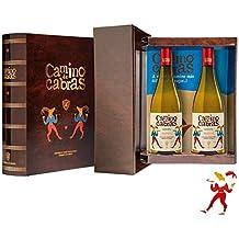 CAMINO DE CABRAS Estuche regalo - vino blanco - Albariño Rias Baixas - Producto Gourmet -
