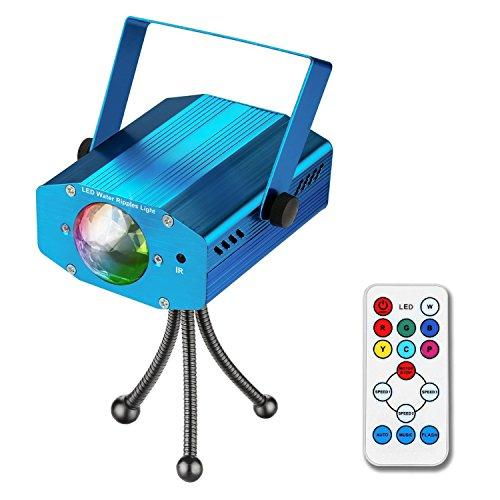 Disco Lichteffekte, tronisky Disco Party Licht Discokugel Beleuchtung Discolicht Partylicht mit Fernbedienung LED Bühnenlicht Effektlicht für Halloween, Partei, Xmas, Club, Karaoke - Blau
