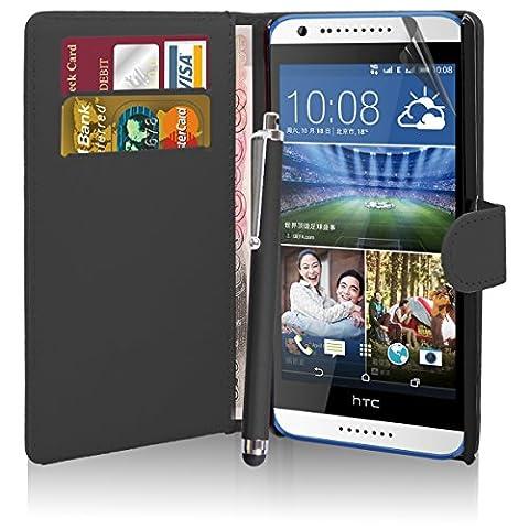 Excellent Accessories Sacoche 510 HTC Desire-Qualité Premium-Housse de protection en cuir à rabat/étui à rabat avec porte-cartes/protecteur d
