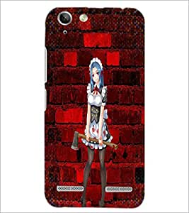 PrintDhaba Axe Girl D-2938 Back Case Cover for LENOVO LEMON 3 (Multi-Coloured)