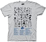 Seinfeld Fifty References Ice Grey Adult T-Shirt Tee (Adult X-Large)