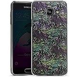 Samsung Galaxy A3 (2016) Housse Étui Protection Coque BARRE NOIRE Fleurs Fleurs