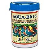 AQUA BIO 5 Milchsäurebakterien Pulver, probiotische Filterbakterien für Koiteich, Teich und Gartenteich, unterstützen die Nitrifizierung, bauen Algen und Schlamm ab. Der Rundum-Schutz für Koi und Teich. (1000 ml)
