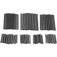 YouN 127pcs/set negro 40 – 80 mm aislamiento surtido 2:1 termoretráctil Tubing Wrap
