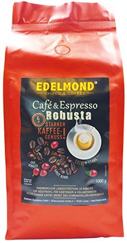 Edelmond Robusta Kaffee, eine private Trommel - Langzeitröstung für beste Röstaromen. Säurearm...
