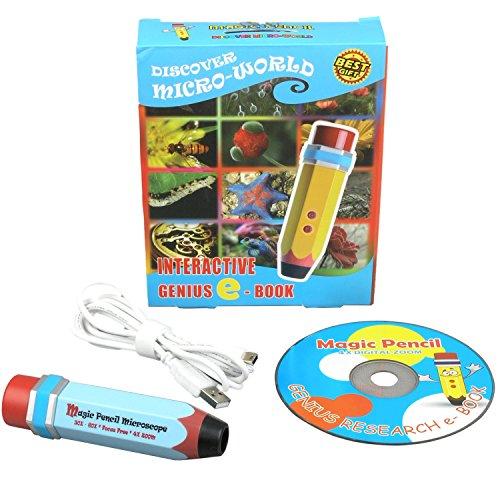 amscope ubwmp30X 60X-b Magic Bleistift 2MP USB Mikroskop mit interaktiven Bildung Software-Blau -