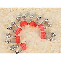 TYKusm - Caña de pescar con alarma de dos campanas con clip de plástico, 100 unidades (rojo)