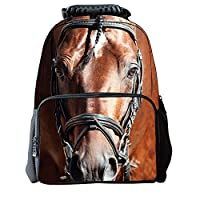 Fancybox Boys Girls Casual Backpack 3D Animals Print School Backpack Bags Laptop Hiking Daypack (Horse)