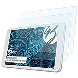Bruni Schutzfolie für Alcatel One Touch Pixi 3 (8) 3G/WiFi Folie, glasklare Bildschirmschutzfolie (2X)