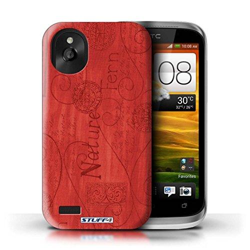 Kobalt® Imprimé Etui / Coque pour HTC Desire X / Jaune conception / Série Motif Nature Rouge