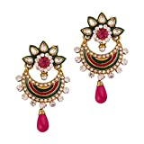 Variation Pink Green Ethnic Wear Pair Of...