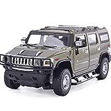 Tagke Bambini Educational Toy Car 01:24 H2 quattro porte auto modello di simulazione di metallo da regalo Lega Model Car Auto Ornamenti giocattolo dell'automobile con luci Unzione Pasqua regali di com