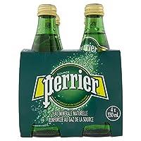 Perrier Sparkling Mineral Water Regular Glass Bottle, 4 x 330 ml