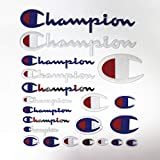 YunHui 21er Pack Champion Patches Patch-Set in verschiedenen Größen zum Aufnähen oder Aufbügeln Gesticktes DIY Applique Emblem Abzeichen Dekorativ
