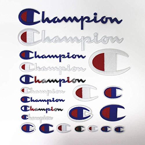 YunHui 21er Pack Champion Patches Patch-Set in verschiedenen Größen zum Aufnähen oder Aufbügeln Gesticktes DIY Applique Emblem Abzeichen Dekorativ -