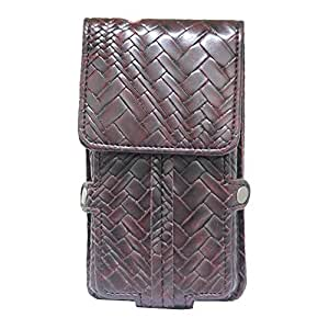 Jo Jo A6 Bali Series Leather Pouch Holster Case For Elephone Vowney Lite Wine Red