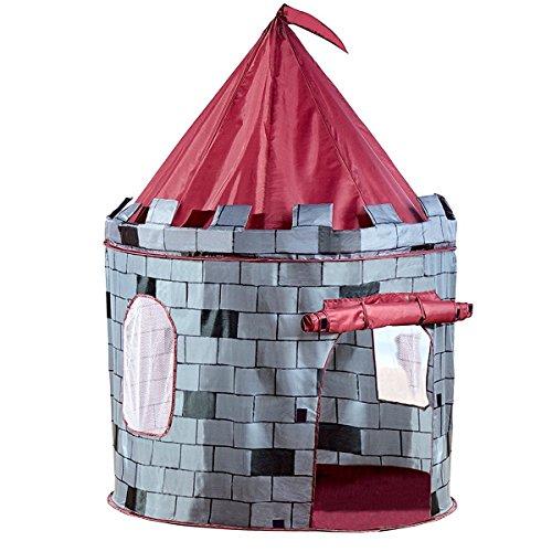 Vivo Grey Knight Castle Pop Up Indoor/Outdoor Boy's Play Tent Playhouse Den Garden