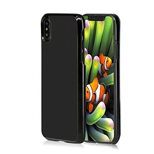 AVIDET iPhone X Hülle - Bumper und Anti-Scratch Hard Cover Case Tasche für iPhone X (Rot) Schwarz