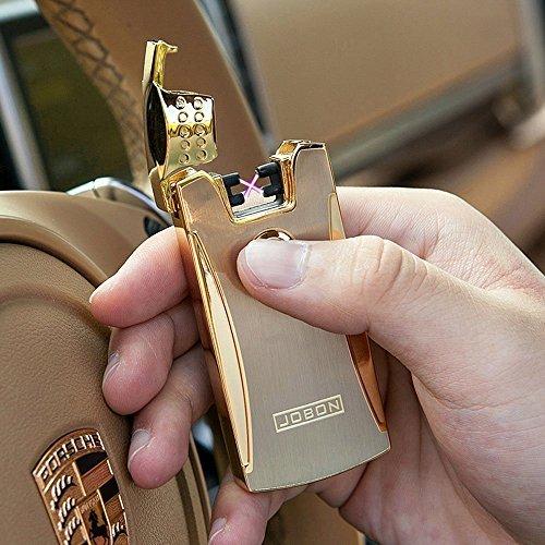Jobon Der ARC Feuerzeug ZB-868 Umweltschutz zyklus aufladen (Gold)
