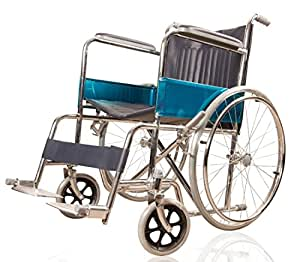 JSB W01 Foldable Mobility Wheel chair with Attendant Brakes