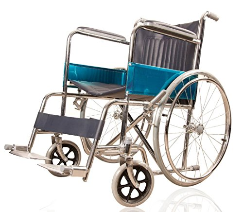 JSB W01 Folding Steel Patient Wheelchair