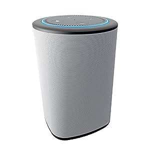 VAUX Cordless Home Speaker + Portable Battery for Amazon Echo Dot Gen 2 (Gray/Ash)