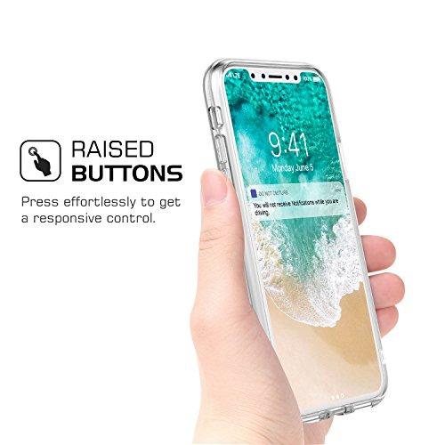 MoKo iPhone X Hülle - [Glänz Serie] Ultra Slim Drei Layer Glitzer Case Kratzfeste Stoßfest Handy Schutzhülle Schale für Apple iPhone X / iPhone 10 2017 Smartphone, Farbverlauf Violett Silber