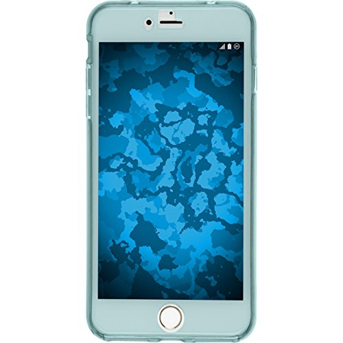 PhoneNatic Case für Apple iPhone 7 Plus Hülle Silikon hellblau 360° Fullbody Cover iPhone 7 Plus Tasche + 2 Schutzfolien Hellblau