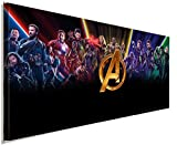 AK ART Avenger Marvel Leinwandbild Kunstdruck Wandbild Wanddeko Panorama TOP XXL (100 x 40 cm)