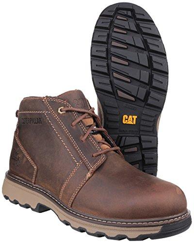 CAT Workwear Mens Parker Lightweight Leather S1P Safety Boots Dark Beige