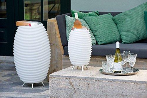 tiver Multimedia-Lautsprecher Stehlampe Bluetooth Sektkühler Party Garten Musik Weinkühler Lampe Pflanzgefäß Geschenk Idee ()